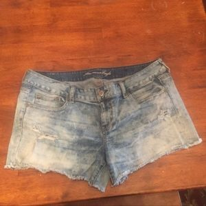 American Eagle jean shorts distressed
